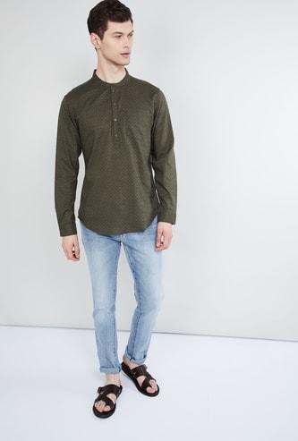 MAX Printed Band Collar Shirt Kurta