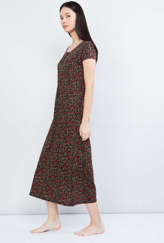 MAX Printed Maxi Night Gown