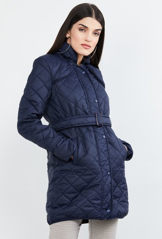 MAX Quilted Belted Waist Jacket