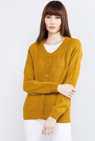 MAX Textured Knit Cardigan