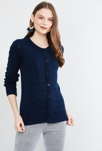 MAX Textured Full Sleeves Cardigan