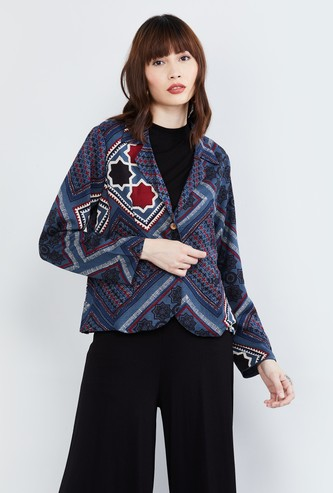 MAX Printed Buttoned Jacket