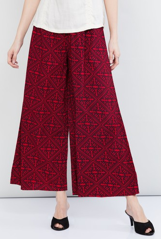 MAX Printed Ankle-Length Palazzos