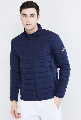 MAX Solid Quilted Puffer Jacket