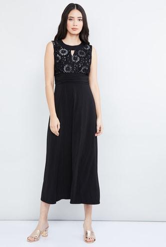 MAX Lace Detail Sleeveless Maxi Dress