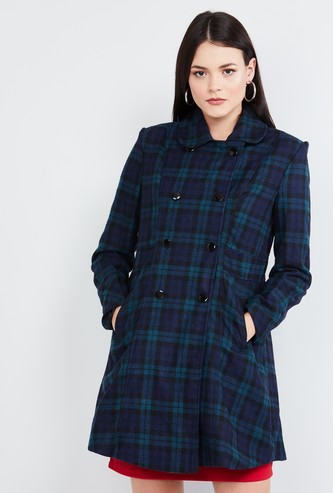 MAX Checked Collared Coat