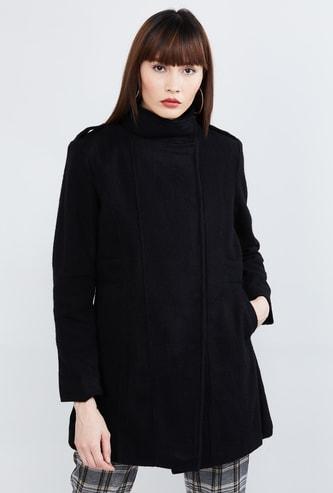 MAX Solid Mock Collar Coat