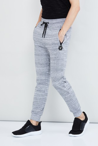MAX Striped Joggers with Zip Pockets