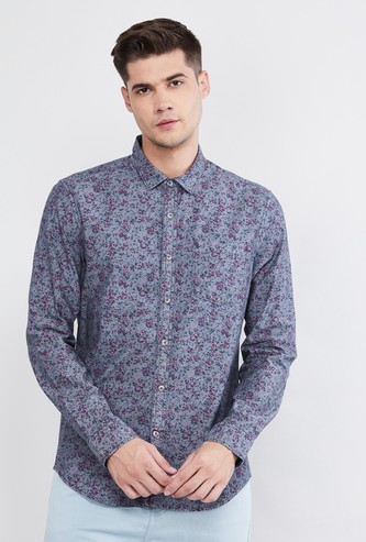 MAX Printed Slim Fit Casual Shirt