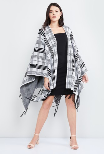 MAX Checked Open-Front Poncho