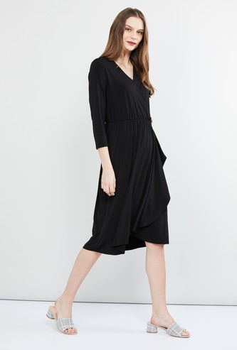 MAX Solid Midi Dress
