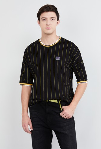 MAX Striped Short Sleeves Slim Fit T-shirt