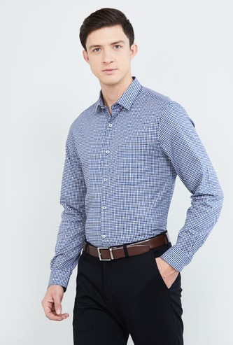 MAX Gingham Checked Slim Fit Formal Shirt