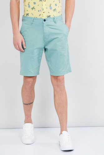 MAX Solid Low-Rise City Shorts