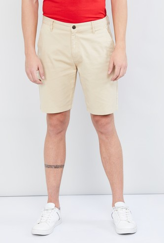 MAX Casual Solid Stretch Shorts