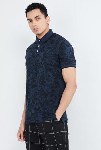 MAX Printed Regular Fit Polo T-shirt