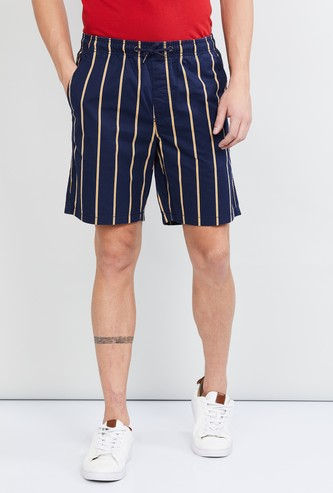 MAX Striped Casual Shorts