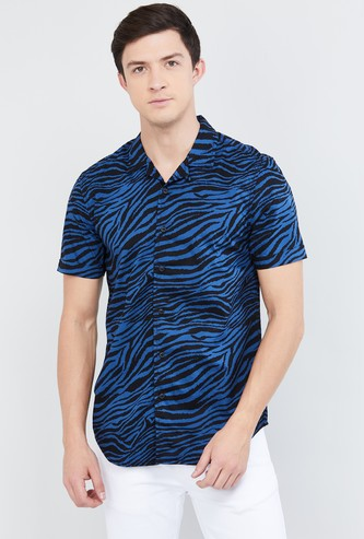 MAX Animal Print Short Sleeves Shirt
