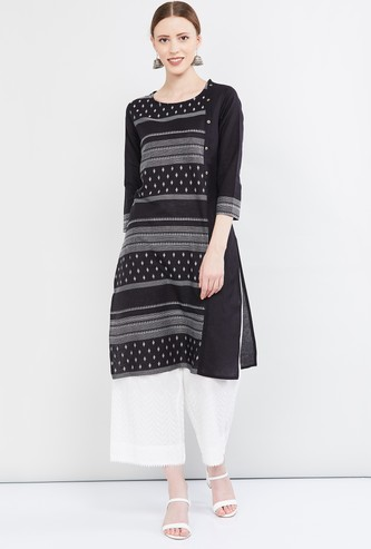 MAX Printed Three-quarter Sleeves Kurta
