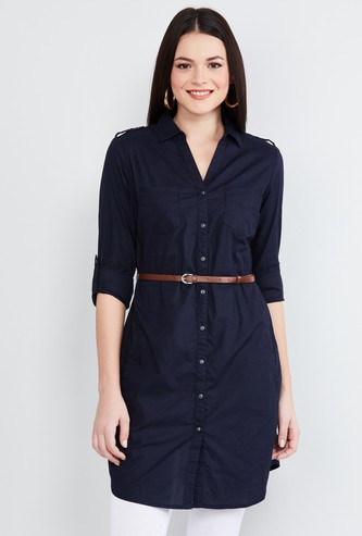 MAX Solid Tunic with Belt