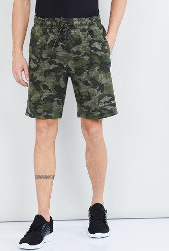 MAX Camouflage Print Elasticated Shorts