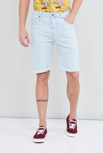 MAX Solid Denim City Shorts