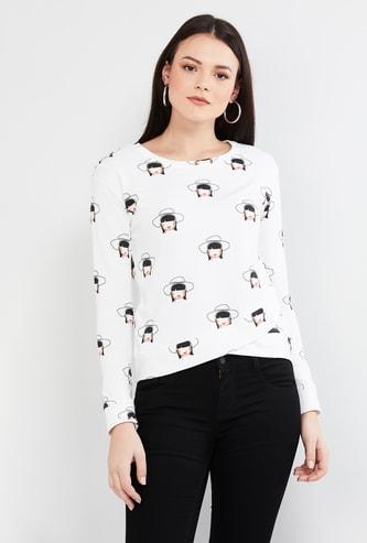 MAX Printed Round Neck Sweatshirt