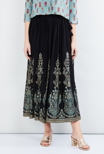MAX Printed Elasticated Skirt