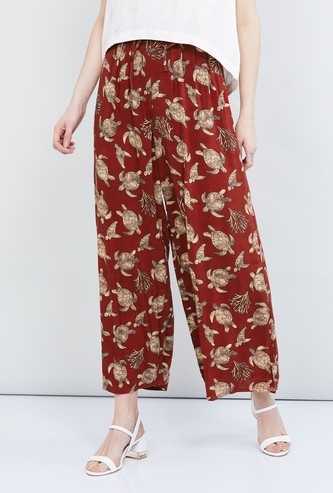 MAX Printed Elasticated Palazzos