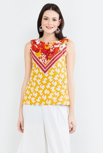 MAX Floral Print Sleeveless Top