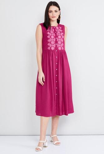MAX Embroidered Midi Dress