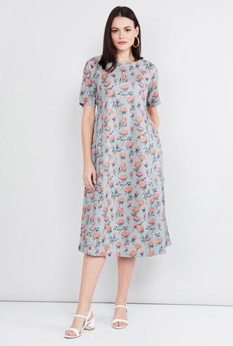 MAX Floral Print Midi Dress