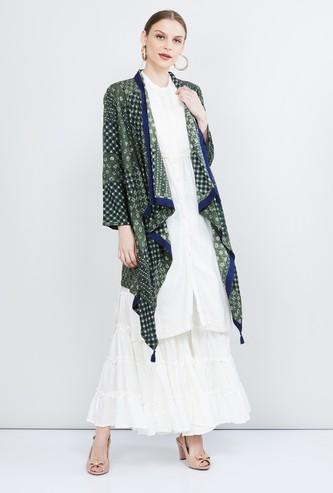 MAX Printed Waterfall Shrug