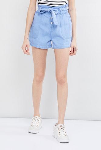 MAX Lightwashed Denim Shorts