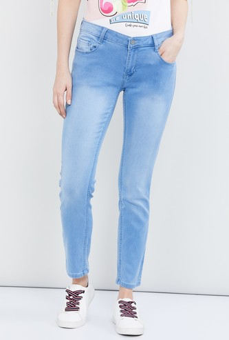 MAX Solid Pencil Fit Jeans