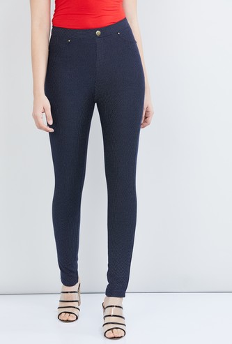 MAX Textured Skinny Fit Jeggings