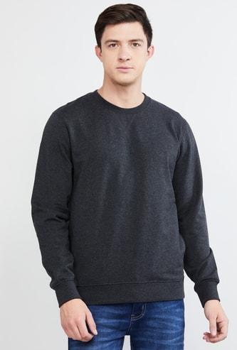 MAX Solid Full Sleeves Sweatshirt