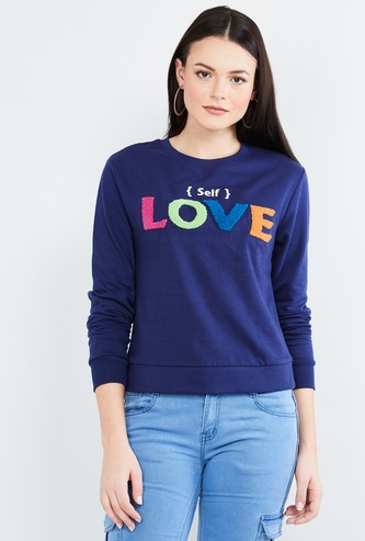 MAX Textured Full Sleeves Sweatshirt