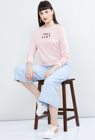 MAX Textured Full Sleeves Sweatshirt