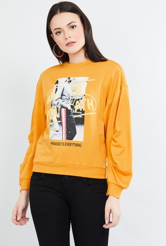 MAX Graphic Print Full Sleeves Sweatshirt