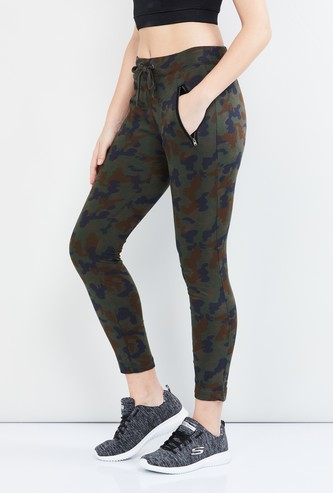 MAX Camouflage Print Drawstring Waist Track Pants