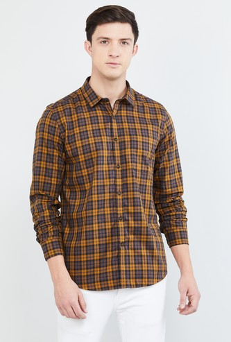 MAX Checked Full Sleeves Smart Fit Casual Shirt