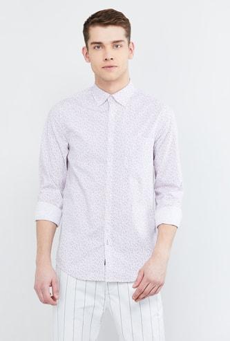 MAX Floral Print Slim Fit Casual Shirt