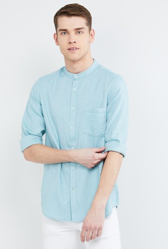 MAX Textured Regular Fit Casual Shirt