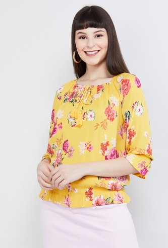 MAX Printed Cinched Top