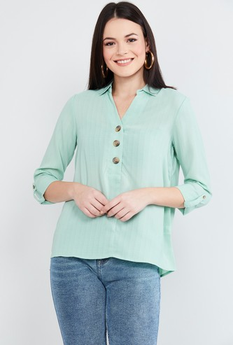 MAX Solid Collared Top