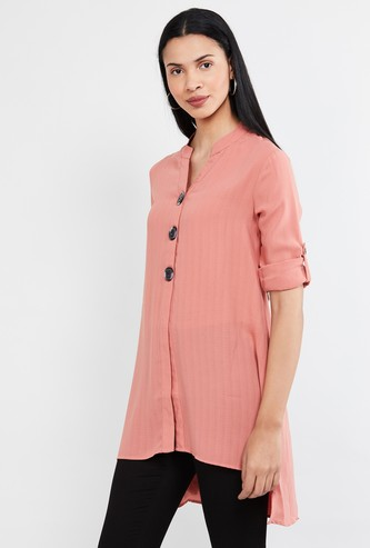 MAX Striped High-Low Tunic