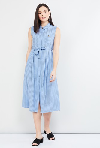 MAX Striped Shirt Style Dress