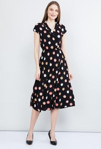 MAX Printed Midi Dress