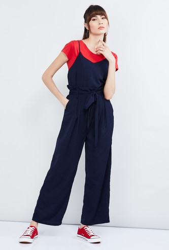 MAX Solid Jumpsuit with T-shirt